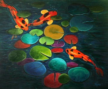 """""""Pool Party"""" original fine art by Sunny Williams"""