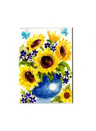 """Sunflowers"" original fine art by Patricia Ann Rizzo"