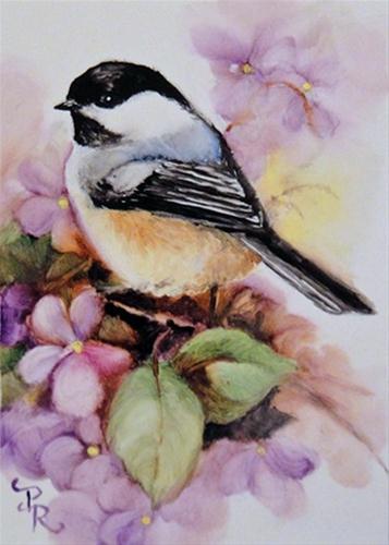 """""""The Violet Patch"""" original fine art by Paulie Rollins"""