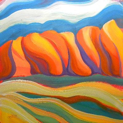 """Canyon Dreams 31"" original fine art by Pam Van Londen"