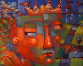 """Princess Willy Nilly, revisited"" original fine art by Brenda York"