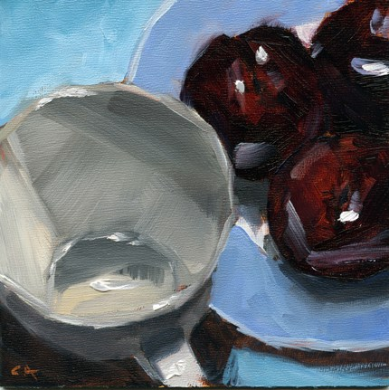 """Black & Blues"" original fine art by Cynthia Armstrong"