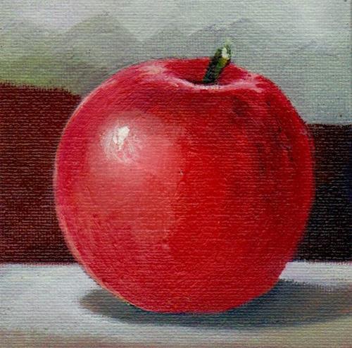 """apple"" original fine art by Mark DeBak"