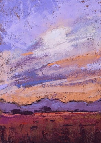 """Painting Arizona....The Sunset Paintings"" original fine art by Karen Margulis"