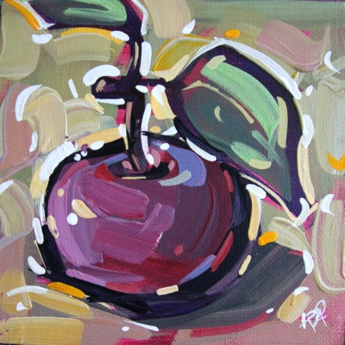 """Apple Abstraction 29"" original fine art by Roger Akesson"