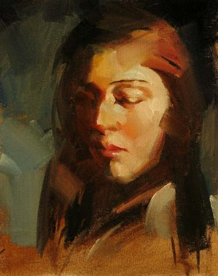 """Portrait Study 1"" original fine art by Qiang Huang"