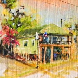 """Presseller's Deli Gallery Walk Punta Gorda"" original fine art by Christa Friedl"