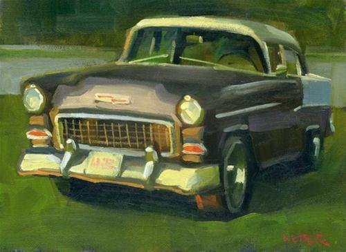 """Antique cars"" original fine art by Kathy Weber"