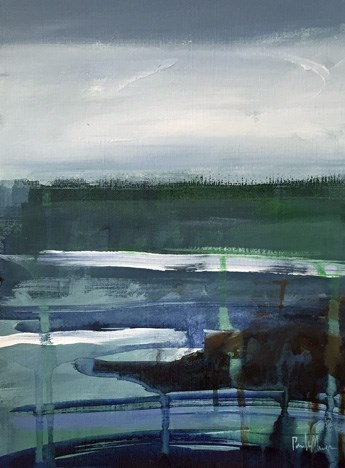 """""""ocean abstract"""" original fine art by Pamela Munger"""