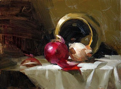 """""""Red and White"""" original fine art by Qiang Huang"""