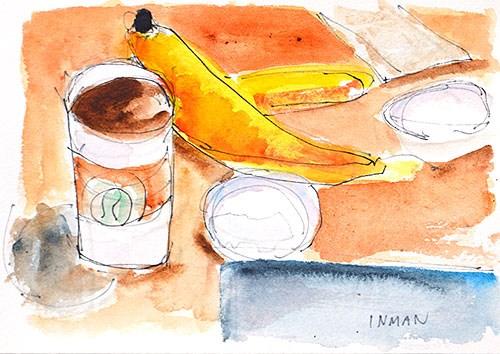 """Breakfast Still Life Painting"" original fine art by Kevin Inman"