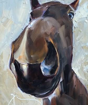 """""""Horse Sense"""" original fine art by Gigi ."""