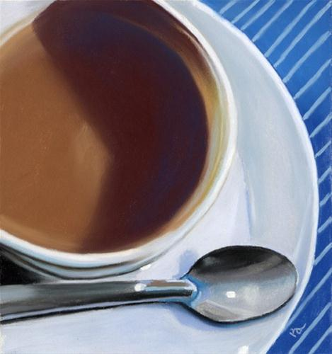 """coffee and spoon"" original fine art by Ria Hills"