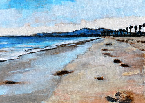 """Santa Barbara Beach Painting"" original fine art by Kevin Inman"