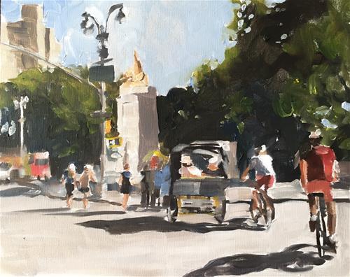 """Entrance to Central Park"" original fine art by James Coates"