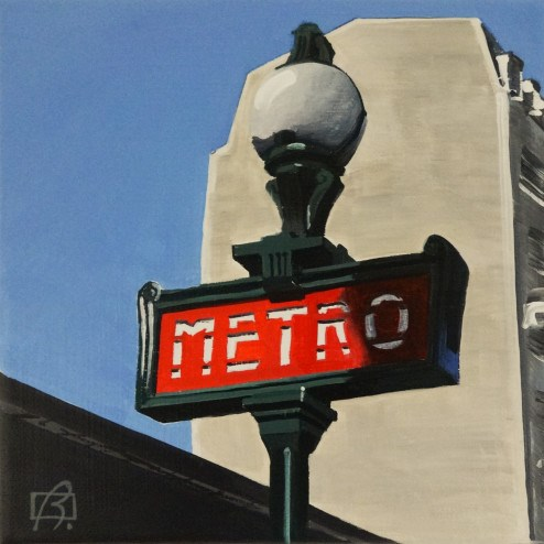 """Paris Metro II"" original fine art by Andre Beaulieu"