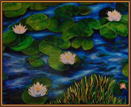 """""""Lotus Dreams"""" original fine art by Captain B Smith"""