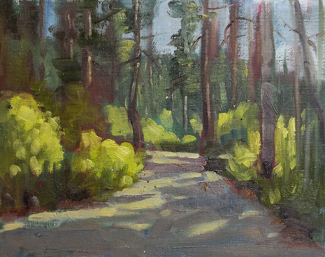 """Dappled Light"" original fine art by Deborah Newman"