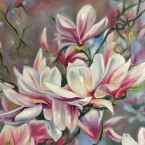 """""""Magnolien"""" original fine art by Sonja Neumann"""