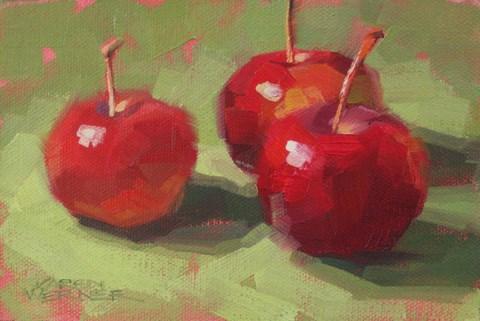 """Crab Apples"" original fine art by Karen Werner"