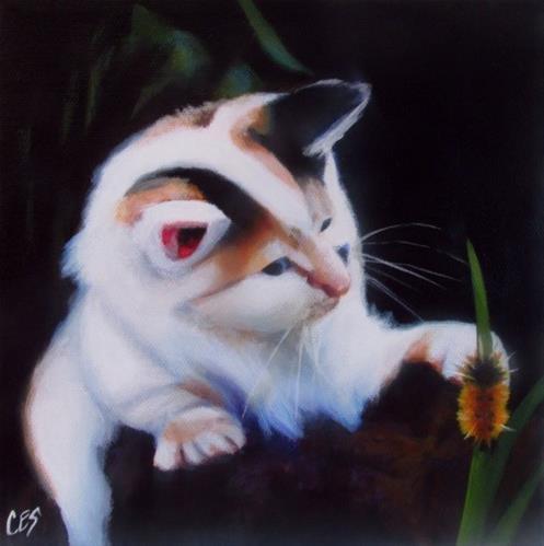 """""""Furry Friends"""" original fine art by ~ces~ Christine E. S. Code"""