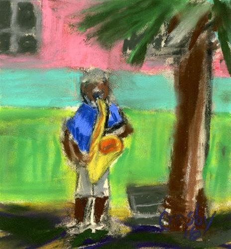 """Shadow Music (study)"" original fine art by Donna Crosby"