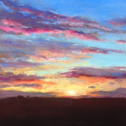 """Sunrise On The Farm"" original fine art by Cindy Gillett"