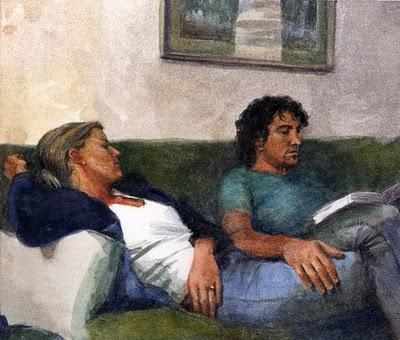 """Watercolor:  Melded"" original fine art by Belinda Del Pesco"