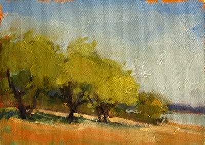 """Lakeside"" original fine art by Laurel Daniel"
