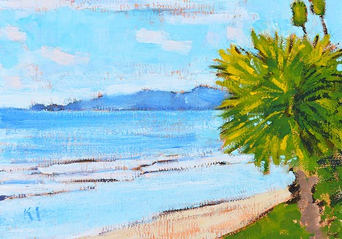 """Butterfly Beach Painting, Santa Barbara"" original fine art by Kevin Inman"
