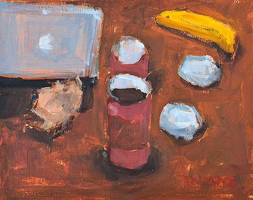 """Breakfast Painting"" original fine art by Kevin Inman"