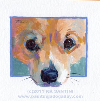 """Little Man Mirk, A Painted Sketch"" original fine art by Kimberly Santini"