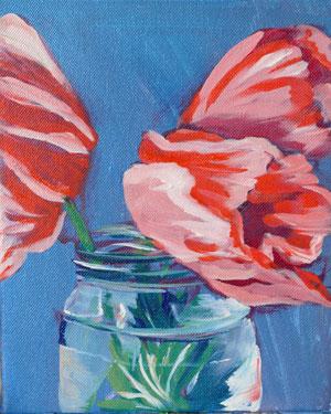 """Poppies in a Jar"" original fine art by Darlene Young"