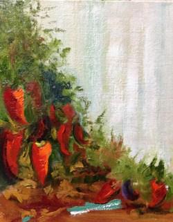 """""""Last in the Garden"""" original fine art by Peggy Schumm"""
