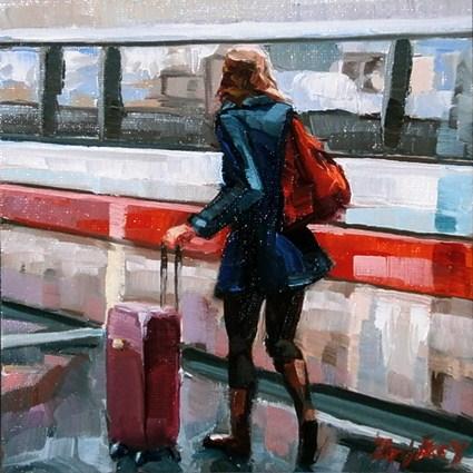 """Stuttgart,on the way"" original fine art by Jurij Frey"