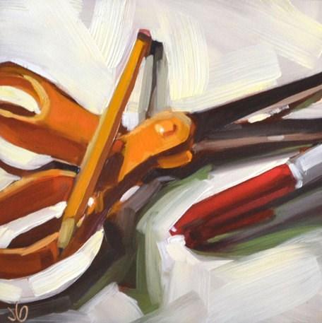 """""""Scissors and Friends"""" original fine art by Jessica Green"""