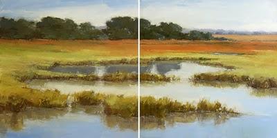 """Marshland Flow"" original fine art by Laurel Daniel"