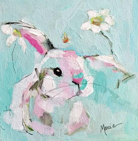 """Barely"" original fine art by Marcia Hodges"