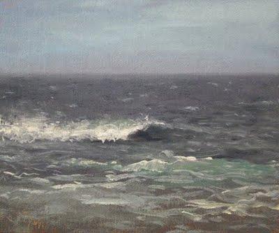 """Seascape No. 5"" original fine art by Abbey Ryan"