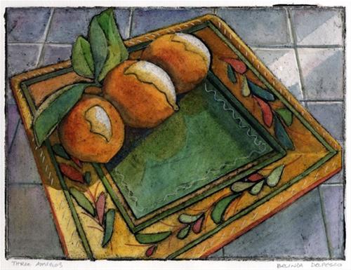 """Collagraph: Three Amigos – & 11 online video art & craft classes"" original fine art by Belinda Del Pesco"