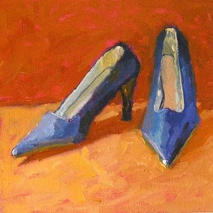 """Blue Heels"" original fine art by Nina Brodsky"