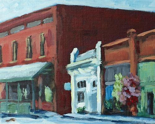 """The Old Bank"" original fine art by J. Farnsworth"