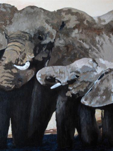 """Mother and Child"" original fine art by Nan Johnson"