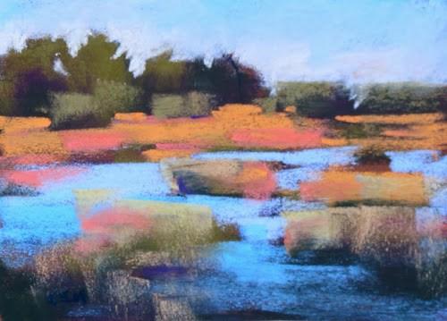 """Our Wonder-Fall Painting Adventure day1"" original fine art by Karen Margulis"