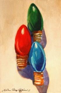 """Christmas Turn-Ons"" original fine art by JoAnne Perez Robinson"