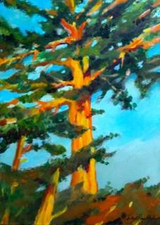 """California Craftsman Tree"" original fine art by JoAnne Perez Robinson"