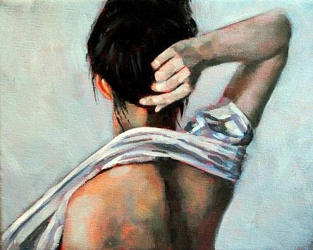 """""""Mandy 8x10 oil on canvas in dark wood frame"""" original fine art by David Larson Evans"""