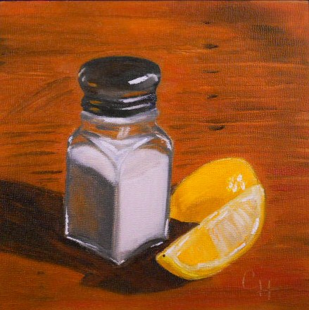 """Salt and Lemon"" original fine art by Claire Henning"