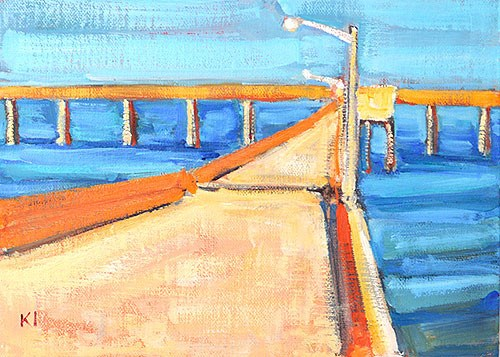 """OB Pier"" original fine art by Kevin Inman"