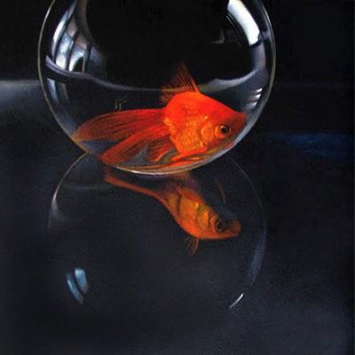 """Ruby Gold No. 2    6x6"" original fine art by M Collier"